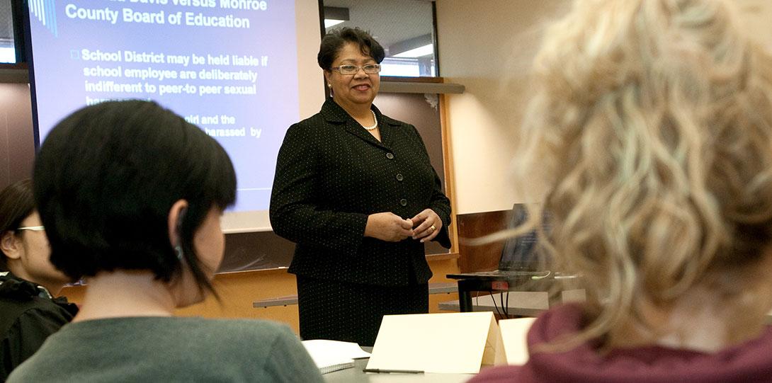 Annette Johnson school social work class