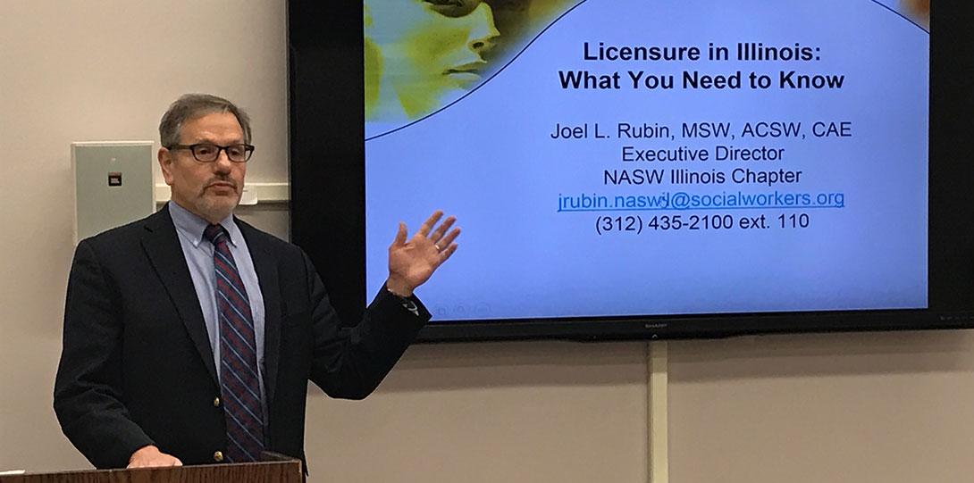 Joel Rubin licensure workshop