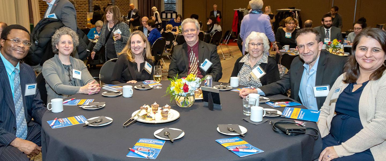 JACSW alumni at college event