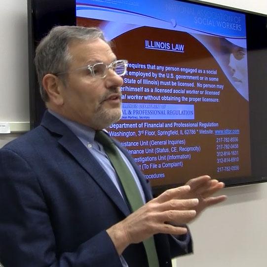 Joel Rubin, MSW '83, Executive Director of NASW-IL