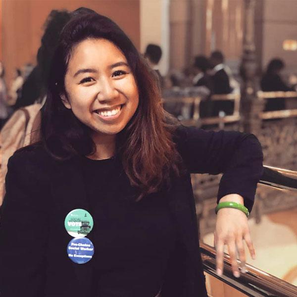 MSW student Rebecca Ozaki