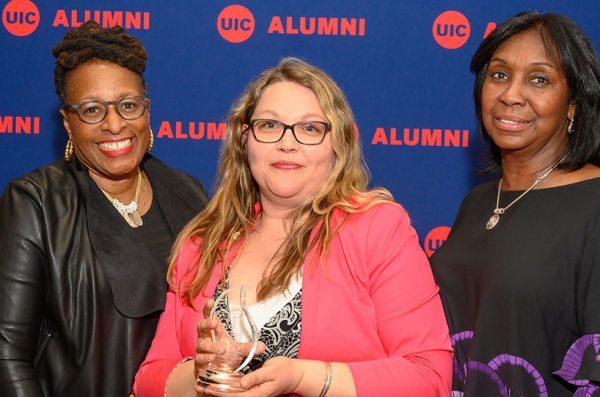alumnus receiving award