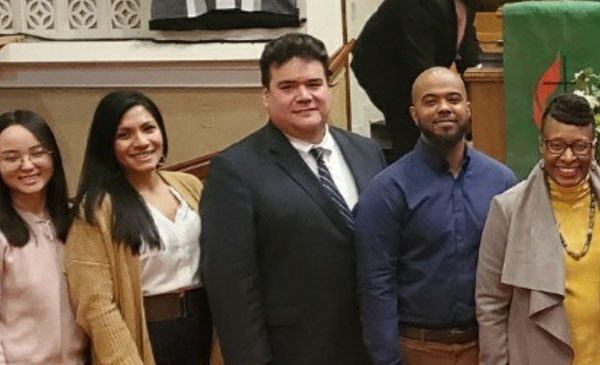doctoral students at judicial candidates forum