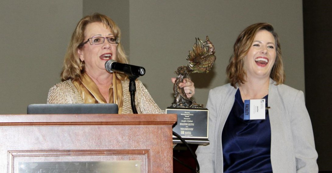 photo of award presentation