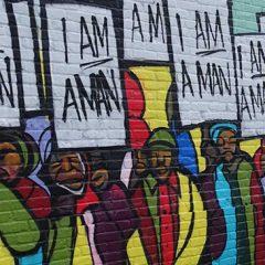 We Are men mural