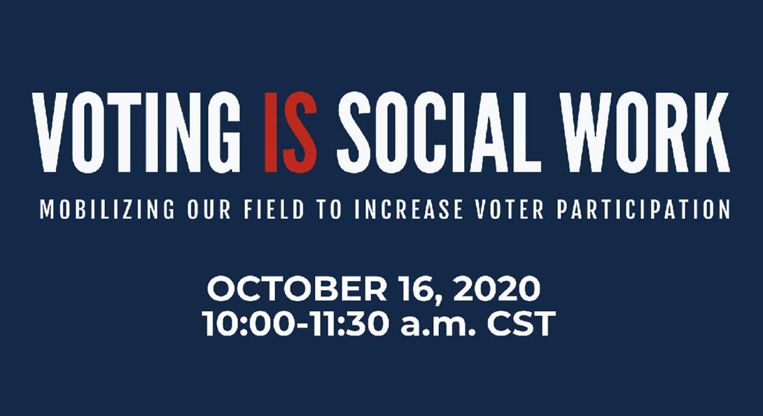 Voting is Social Work header