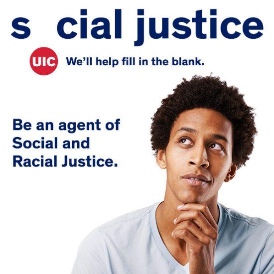 young man looking at social justice